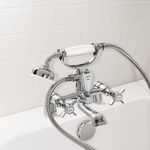 Nabis Regal 2 tap hole bath/shower mixer and kit Chrome Plated A05496