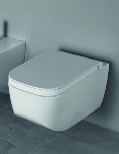 HATRIA Next toilet seat for toilet Suspended toilet seat from the Next line by Hatria 01Y1F301