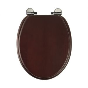 Roper Rhodes Traditional Toilet Seat and Cover with Fittings in  Mahogany 8081MSC / 5016519164626