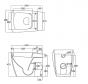 ALTHEA OCEANO Toilet Seat and Cover ORIGINAL STANDARD CLOSE  MEASUREMENTS