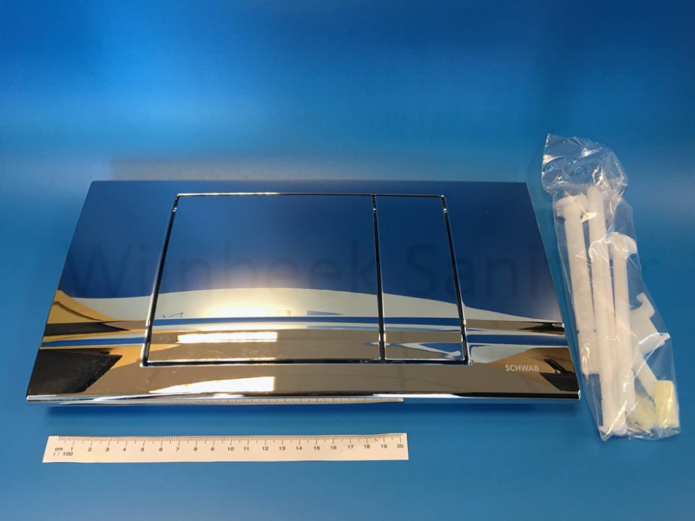 227559 Schwab operation plate Riva Duo, chrome finish