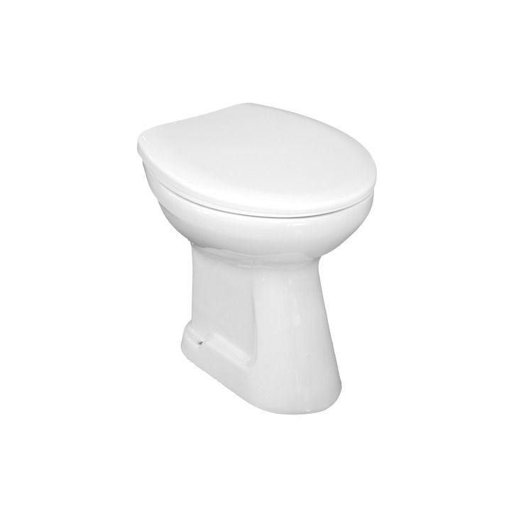 JIKA Zeta 893271 Toilet Seat and cover, plastic hinges