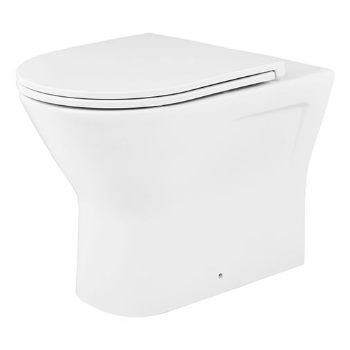 BATHSTORE FALCON TOILET SEAT AND COVER WITH FITTINGS SOFT CLOSE 558836