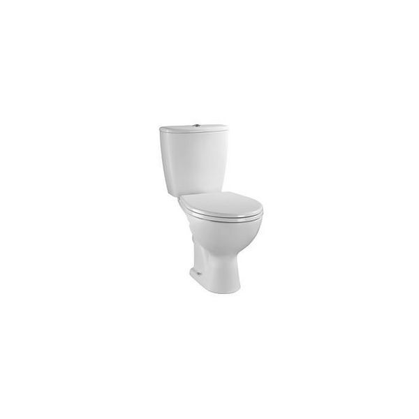 Nabis Pride close coupled toilet seat and cover White 1