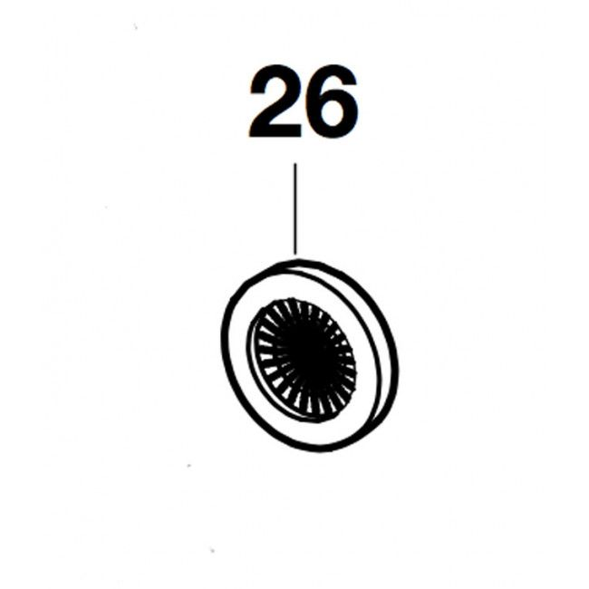 Roca Shower Mixer 3Anti-Gravel Gasket Kit (2 Unis) Victoria (Spare Part 4) Rock A525016207