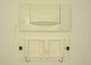 115222111 cover plate pusher plate Geberit 200F white for concealed cistern