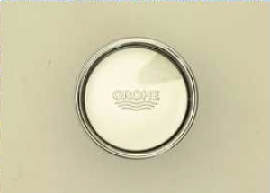 37117PI Grohe DAL push button with Rosette chrome for servo-set old Nr. 06.11.6972