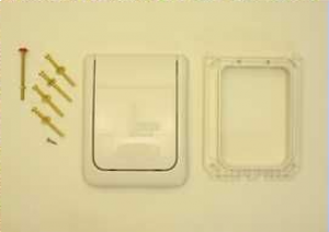 43177SH0 flush plate in white Grohe