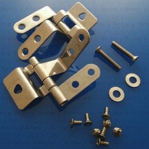 598180000 Keramag hinge kit Chrome to 59818 Cavelle toilet seat 59818000