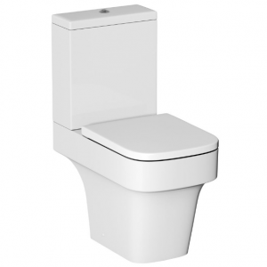B&Q Cooke and Lewis Caldro Close-Coupled Toilet Seat and Cover Only Soft Close