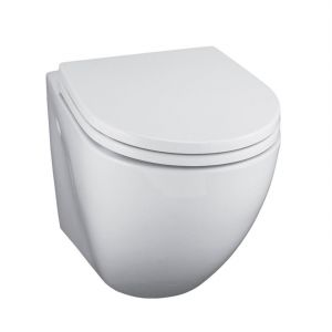 Bathstore Space zero two Toilet  plastic seat and cover