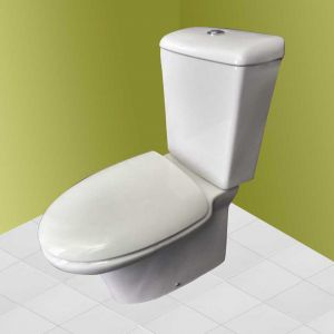 BELLAVISTA SEVILLA TOILET SEAT AND COVER WHITE REPLACEMENT SEAT NOT ORIGINAL