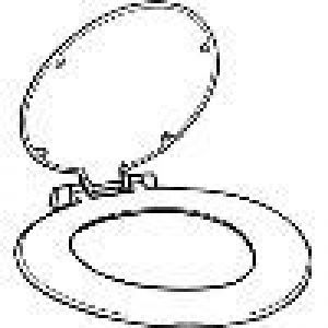 Celmac Closet Toilet Seat 170A STA11WH