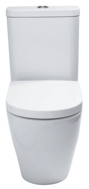 Cook & Lewis Alexas Contemporary Back-To-Wall Close-Coupled Toilet Seat with Hinges