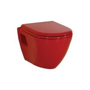 Creavit KC3131.K0 Amasra Duroplast Soft Closing Seat & Cover Red