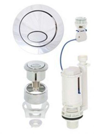 Fluidmaster Push Button Cable Dual-Flush Valve 51173 Toilet Cistern Flush  syphon spares