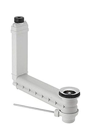 Geberit Clou 152.018.00.1 Drain and Overflow Pipe Fitting with Lever Actuator for Pop-Up Drain Fitting