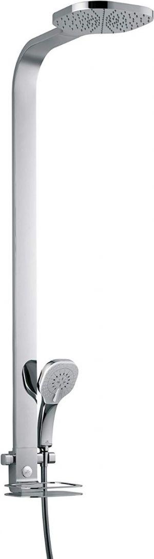 Ideal Standard B0399AA Series idealduo 230 Shower Rail 900 mm, Fixed Soap Dish, Chrome Finish