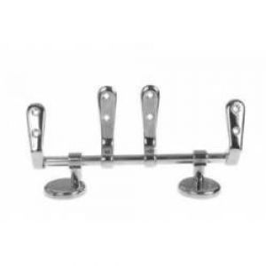 Masefield Epson KAB22CP Polished Chrome Seat Hinges For Water Closet, Bar Hinge
