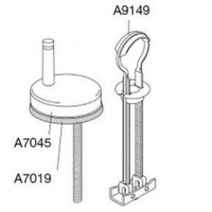 Pressalit 2 864 Universal Toggle Toilet Seat Hinge - DB5999
