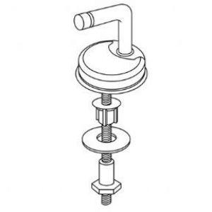 Pressalit 2000 124 Universal Toilet Seat  Hinge Kit - D07999