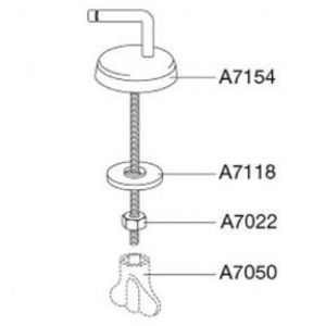 Pressalit 716 Universal Toilet Seat Hinge  - D97999 / BS6 5708591176900