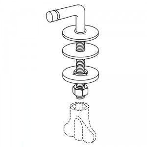 Pressalit BD6999 D Objecta set of hard chrome hinges