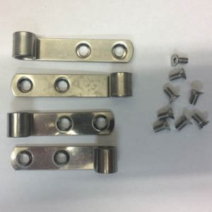 Pressalit A9107 mounting with screws, stainless steel Straps and screws, stainless steel