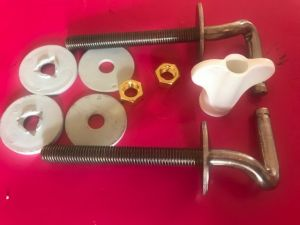 Pressalit BA1P999/D86P999 Objecta and Objecta D set of hard chrome hinges