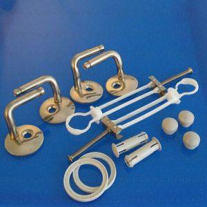 88100161 Villeroy and Boch Amadea 8810 01 61 set of hard chrome hinges BA4P999