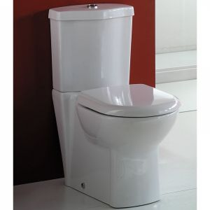 Rak Ceramic White Soft Close Toilet Seat with stain-less steel hinges to suit Amanda, Athena, Compact, Liwa, Jumeir.