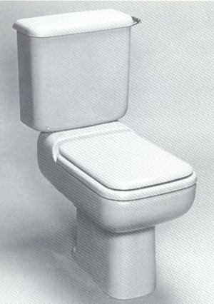 Replacement Ideal Standard Michelangelo Toilet Seat  White Resin Replica