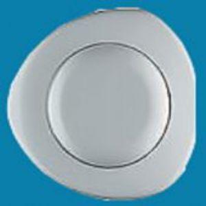 Siamp Single flush Pnuematic button White (raised)  31253510