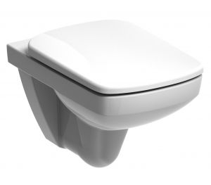 Twyford Bathrooms E17866WH Toilet Seat & Cover, Square Top Fix