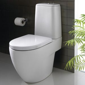 Twyford 3D Toilet Seat and Cover with Bottom Fix Stainless Steel Hinges 3D7815WH